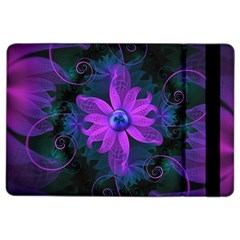 Beautiful Ultraviolet Lilac Orchid Fractal Flowers Ipad Air 2 Flip by jayaprime