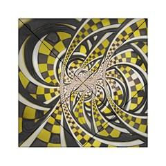 Liquid Taxi Cab, A Yellow Checkered Retro Fractal Acrylic Tangram Puzzle (6  X 6 ) by jayaprime