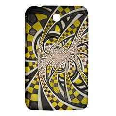 Liquid Taxi Cab, A Yellow Checkered Retro Fractal Samsung Galaxy Tab 3 (7 ) P3200 Hardshell Case  by jayaprime