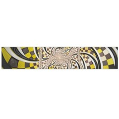 Liquid Taxi Cab, A Yellow Checkered Retro Fractal Flano Scarf (large) by beautifulfractals