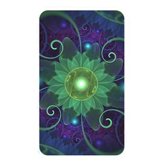 Glowing Blue Green Fractal Lotus Lily Pad Pond Memory Card Reader by jayaprime
