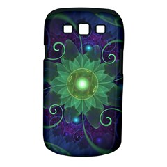 Glowing Blue Green Fractal Lotus Lily Pad Pond Samsung Galaxy S Iii Classic Hardshell Case (pc+silicone) by jayaprime