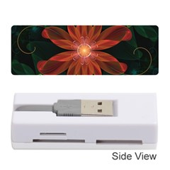 Beautiful Red Passion Flower In A Fractal Jungle Memory Card Reader (stick)  by jayaprime