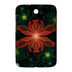 Beautiful Red Passion Flower In A Fractal Jungle Samsung Galaxy Note 8 0 N5100 Hardshell Case  by jayaprime