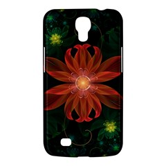 Beautiful Red Passion Flower In A Fractal Jungle Samsung Galaxy Mega 6 3  I9200 Hardshell Case by jayaprime