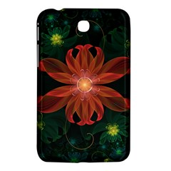 Beautiful Red Passion Flower In A Fractal Jungle Samsung Galaxy Tab 3 (7 ) P3200 Hardshell Case  by jayaprime