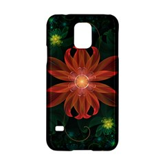 Beautiful Red Passion Flower In A Fractal Jungle Samsung Galaxy S5 Hardshell Case  by jayaprime
