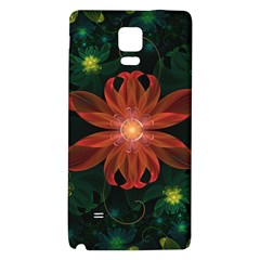 Beautiful Red Passion Flower In A Fractal Jungle Galaxy Note 4 Back Case by jayaprime