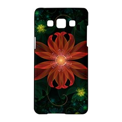 Beautiful Red Passion Flower In A Fractal Jungle Samsung Galaxy A5 Hardshell Case  by beautifulfractals