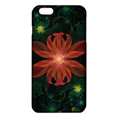 Beautiful Red Passion Flower In A Fractal Jungle Iphone 6 Plus/6s Plus Tpu Case by jayaprime