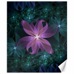 Pink And Turquoise Wedding Cremon Fractal Flowers Canvas 8  X 10  by beautifulfractals