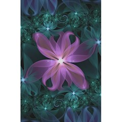Pink And Turquoise Wedding Cremon Fractal Flowers 5 5  X 8 5  Notebooks by jayaprime