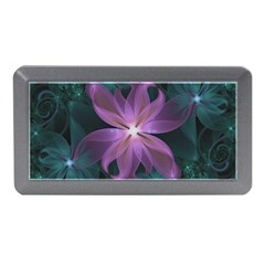 Pink And Turquoise Wedding Cremon Fractal Flowers Memory Card Reader (mini) by jayaprime