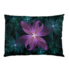 Pink And Turquoise Wedding Cremon Fractal Flowers Pillow Case (two Sides) by jayaprime