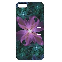 Pink And Turquoise Wedding Cremon Fractal Flowers Apple Iphone 5 Hardshell Case With Stand by beautifulfractals
