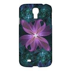 Pink And Turquoise Wedding Cremon Fractal Flowers Samsung Galaxy S4 I9500/i9505 Hardshell Case by jayaprime