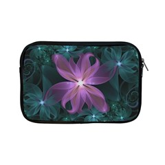 Pink And Turquoise Wedding Cremon Fractal Flowers Apple Ipad Mini Zipper Cases by jayaprime