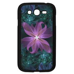 Pink And Turquoise Wedding Cremon Fractal Flowers Samsung Galaxy Grand Duos I9082 Case (black) by jayaprime