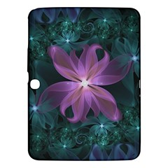 Pink And Turquoise Wedding Cremon Fractal Flowers Samsung Galaxy Tab 3 (10 1 ) P5200 Hardshell Case  by beautifulfractals