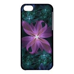 Pink And Turquoise Wedding Cremon Fractal Flowers Apple Iphone 5c Hardshell Case by jayaprime