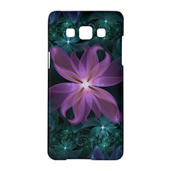 Pink And Turquoise Wedding Cremon Fractal Flowers Samsung Galaxy A5 Hardshell Case  by beautifulfractals