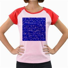 Glossy Abstract Blue Women s Cap Sleeve T-Shirt by MoreColorsinLife