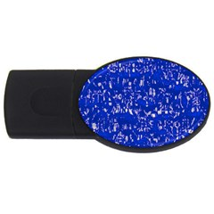 Glossy Abstract Blue Usb Flash Drive Oval (2 Gb) by MoreColorsinLife