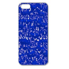 Glossy Abstract Blue Apple Seamless Iphone 5 Case (clear) by MoreColorsinLife