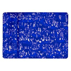 Glossy Abstract Blue Samsung Galaxy Tab 10 1  P7500 Flip Case by MoreColorsinLife