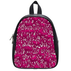 Glossy Abstract Pink School Bags (small)  by MoreColorsinLife