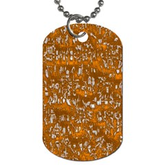 Glossy Abstract Orange Dog Tag (two Sides) by MoreColorsinLife