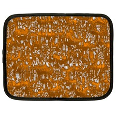 Glossy Abstract Orange Netbook Case (large) by MoreColorsinLife