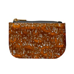 Glossy Abstract Orange Mini Coin Purses by MoreColorsinLife