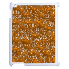 Glossy Abstract Orange Apple Ipad 2 Case (white) by MoreColorsinLife