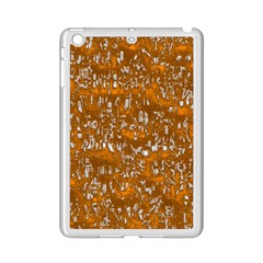 Glossy Abstract Orange Ipad Mini 2 Enamel Coated Cases by MoreColorsinLife