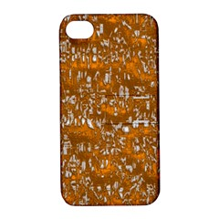 Glossy Abstract Orange Apple Iphone 4/4s Hardshell Case With Stand by MoreColorsinLife