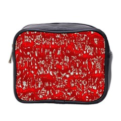 Glossy Abstract Red Mini Toiletries Bag 2 Side by MoreColorsinLife