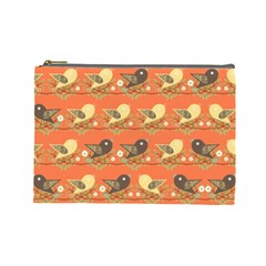 Birds Pattern Cosmetic Bag (large)  by linceazul