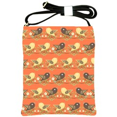 Birds Pattern Shoulder Sling Bags by linceazul