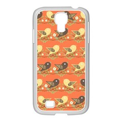 Birds Pattern Samsung Galaxy S4 I9500/ I9505 Case (white) by linceazul