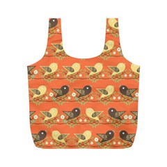 Birds Pattern Full Print Recycle Bags (m)  by linceazul