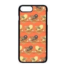 Birds Pattern Apple Iphone 7 Plus Seamless Case (black) by linceazul
