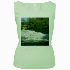 Boise River At Flood Stage Women s Green Tank Top by TailWags