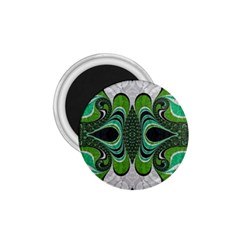 Fractal Art Green Pattern Design 1 75  Magnets by BangZart
