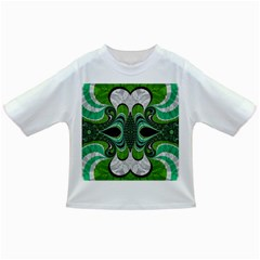 Fractal Art Green Pattern Design Infant/toddler T Shirts