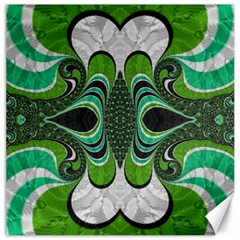 Fractal Art Green Pattern Design Canvas 16  X 16   by BangZart