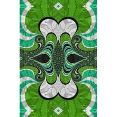 Fractal Art Green Pattern Design 5 5  X 8 5  Notebooks by BangZart