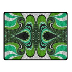 Fractal Art Green Pattern Design Fleece Blanket (small)