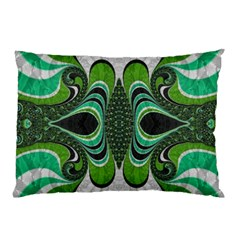 Fractal Art Green Pattern Design Pillow Case (two Sides)