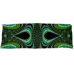Fractal Art Green Pattern Design Body Pillow Case (dakimakura)